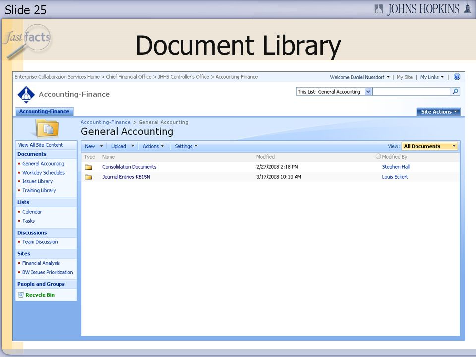 Slide 25 Document Library