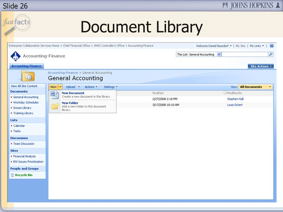 Slide 26 Document Library