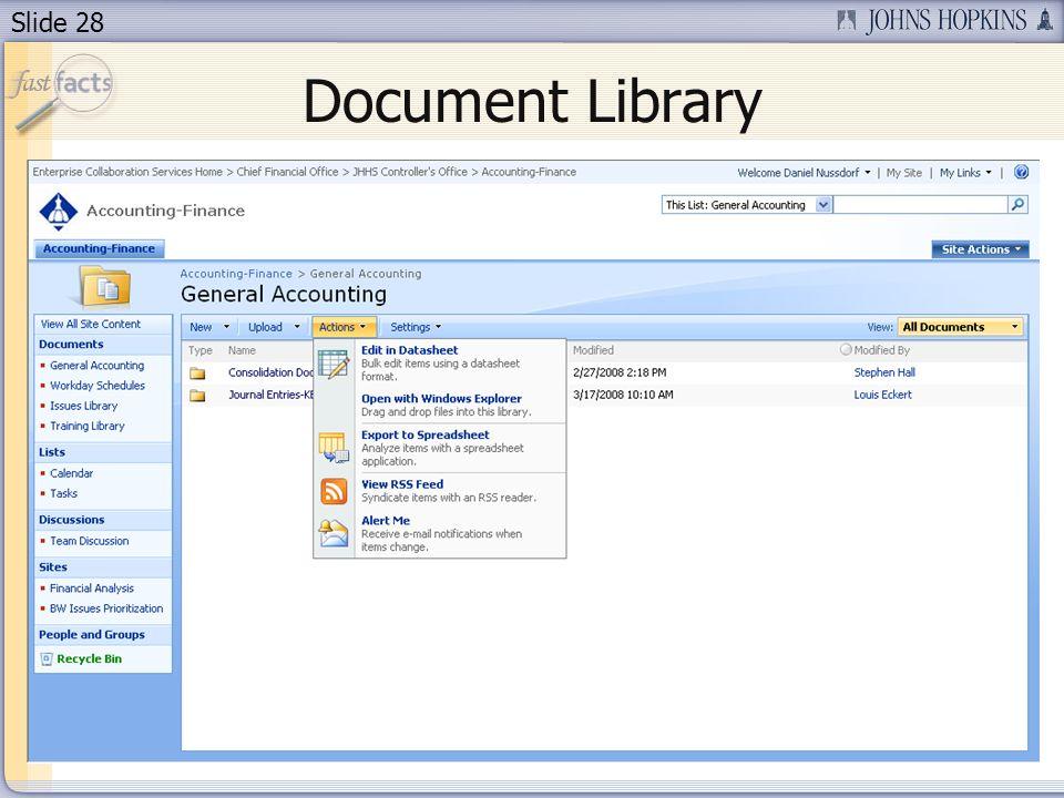 Slide 28 Document Library