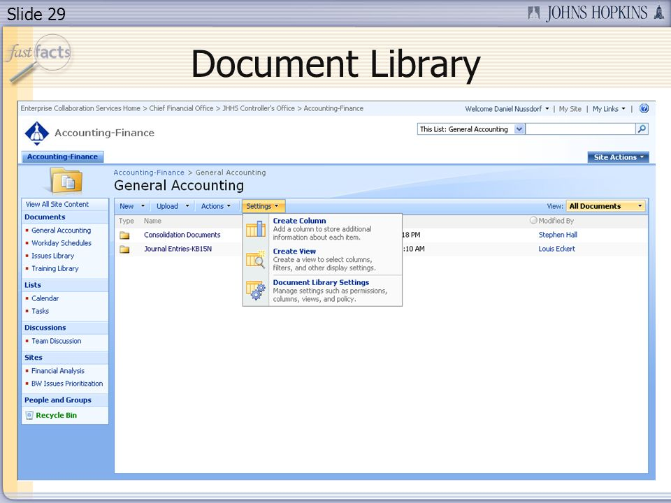 Slide 29 Document Library