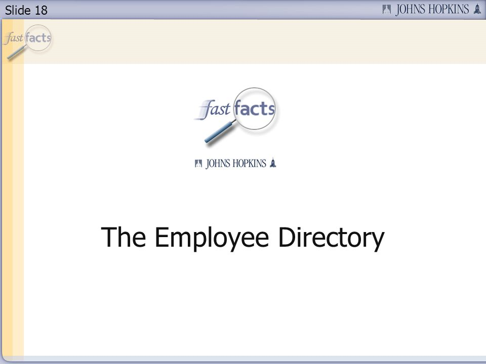 Slide 18 The Employee Directory