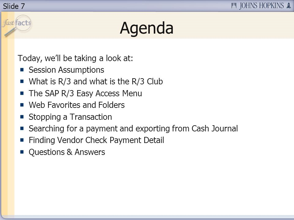 Slide 38 To get to more detailed check information, click on Environment and then Check information.