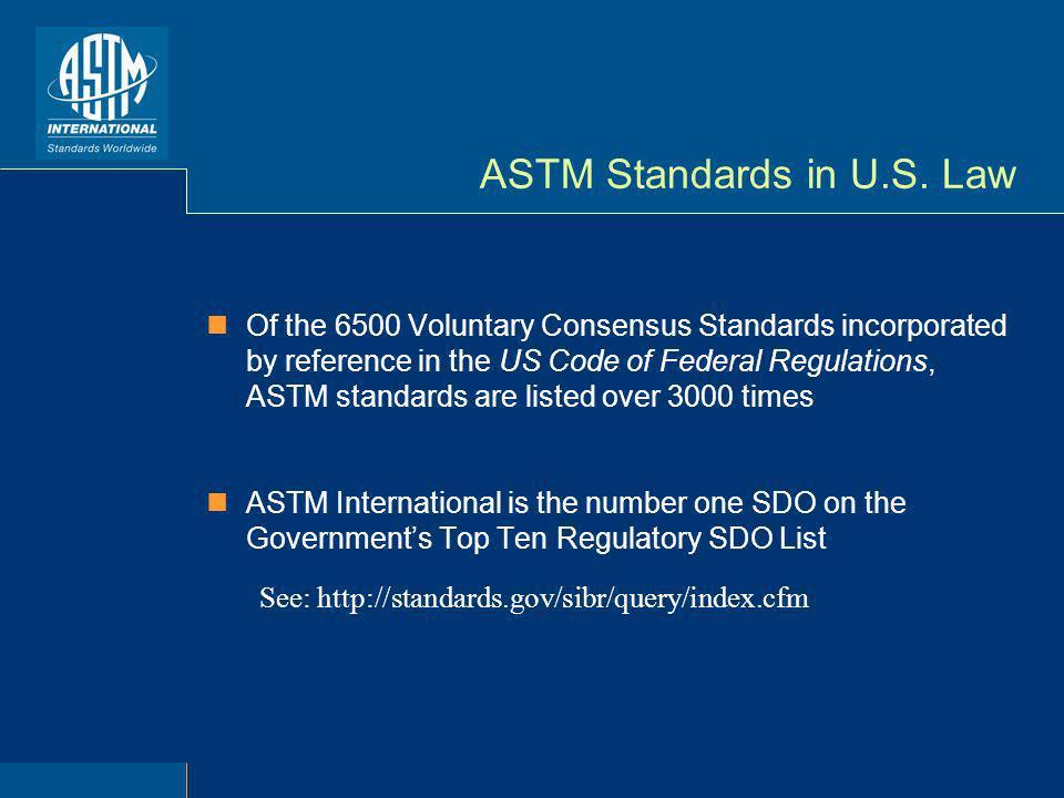 ASTM Standards in U.S.