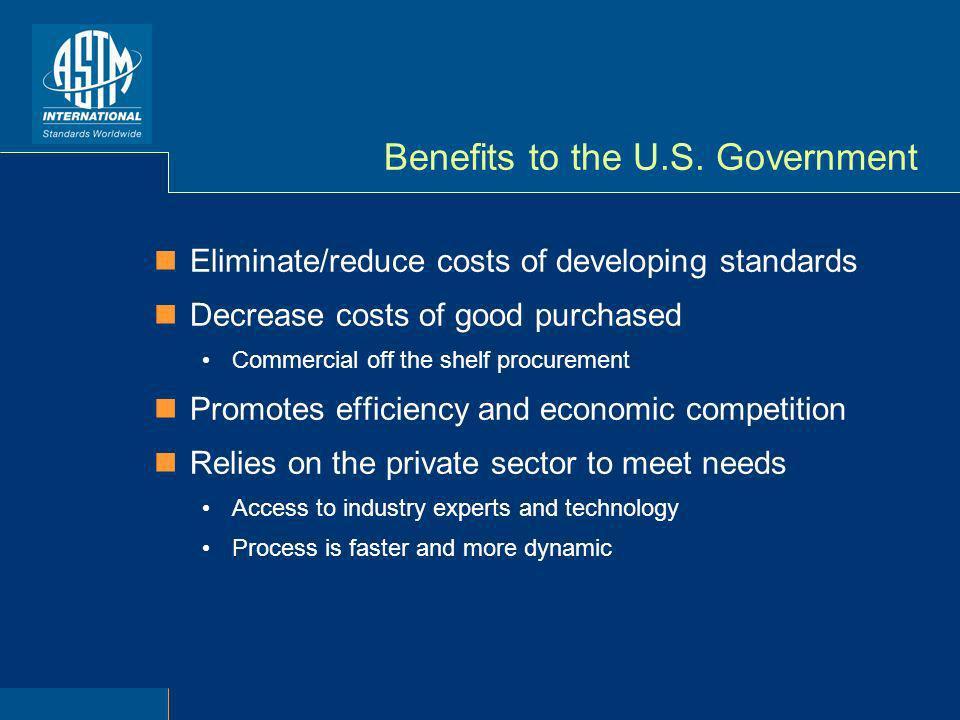 Benefits to the U.S.