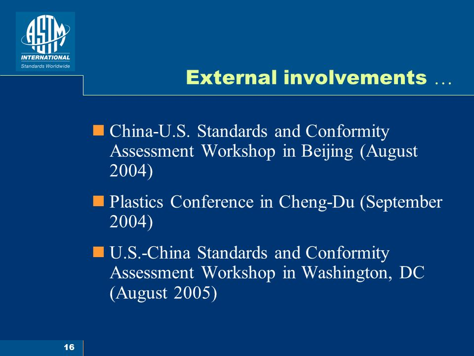 16 External involvements … China-U.S.