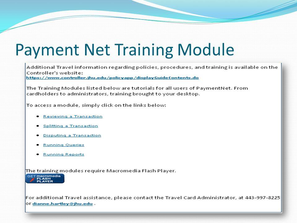 Payment Net Training Module