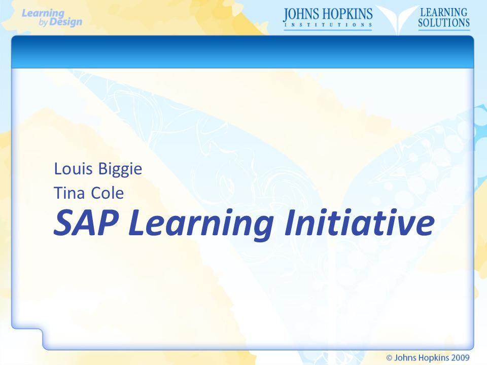 SAP Learning Initiative Louis Biggie Tina Cole