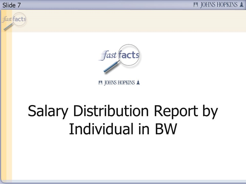 Slide 8 Agenda Today, well be taking a look at: The enhanced Salary Distribution Report in BW Characteristics of the report How this report is helpful Changes to the variable screen How to change the filters Results with the weighting percentages and unsupported amounts Deactivating conditions Security