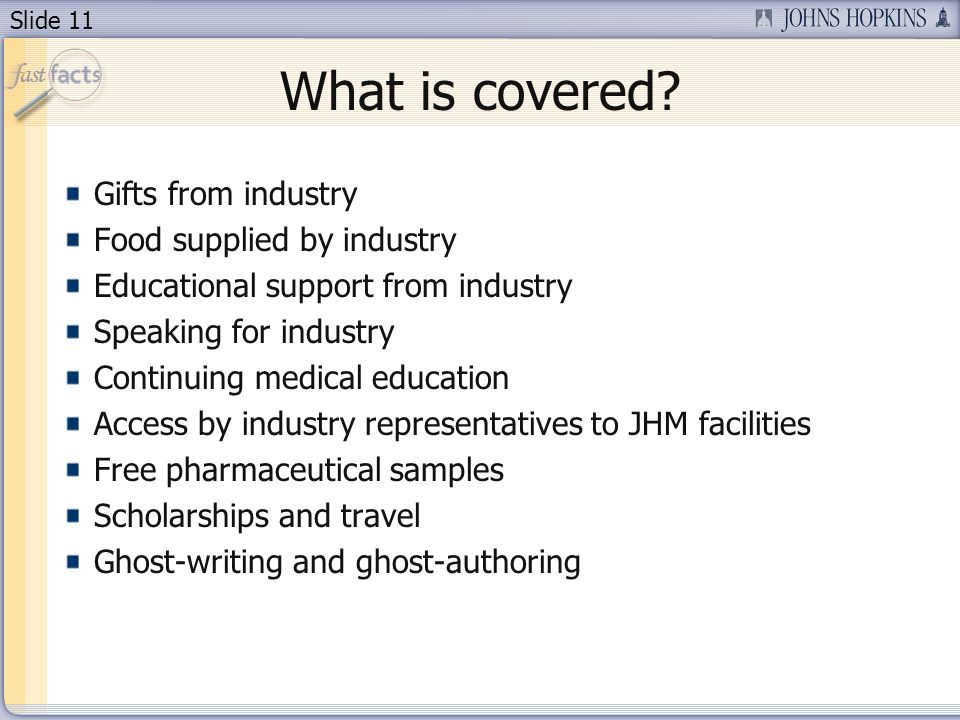 Slide 11 What is covered.