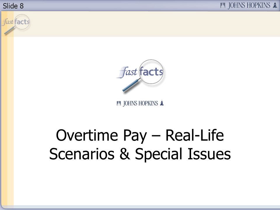 Slide 19 New Overtime Report in E210 Key Features Easy access to view E210 time entries by clicking on an employees pernr Flags employees who had a change in hours or FLSA category during a month Signals need to review E210 Overtime Report calculations closely May need to be manually re-calculated