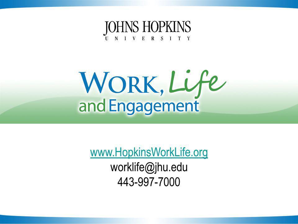 Slide 22 www.HopkinsWorkLife.org worklife@jhu.edu 443-997-7000