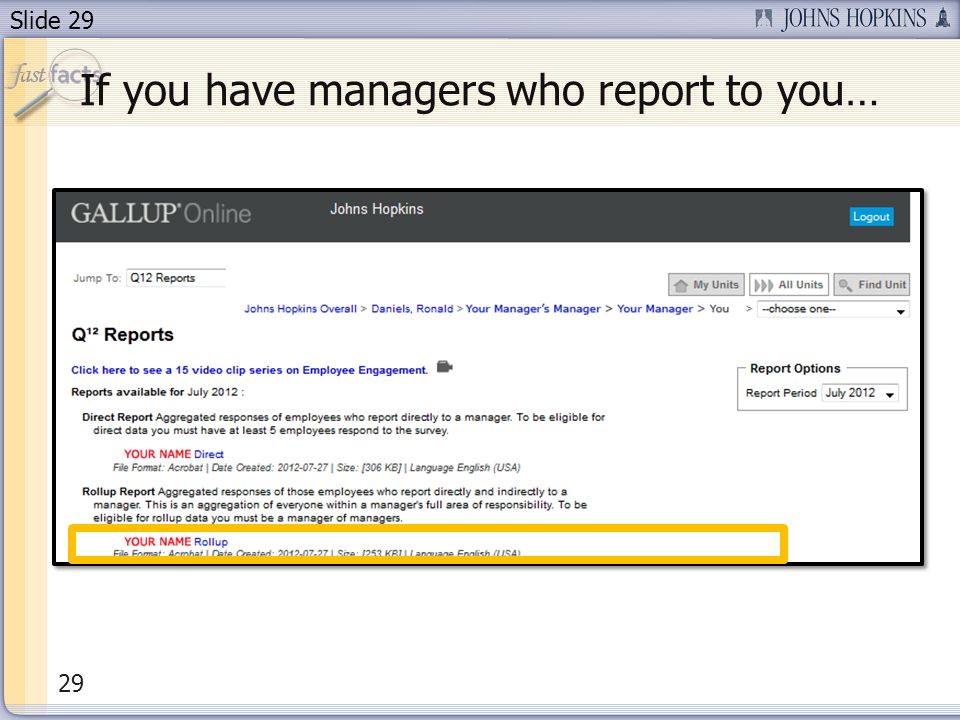 Slide 29 If you have managers who report to you… 29