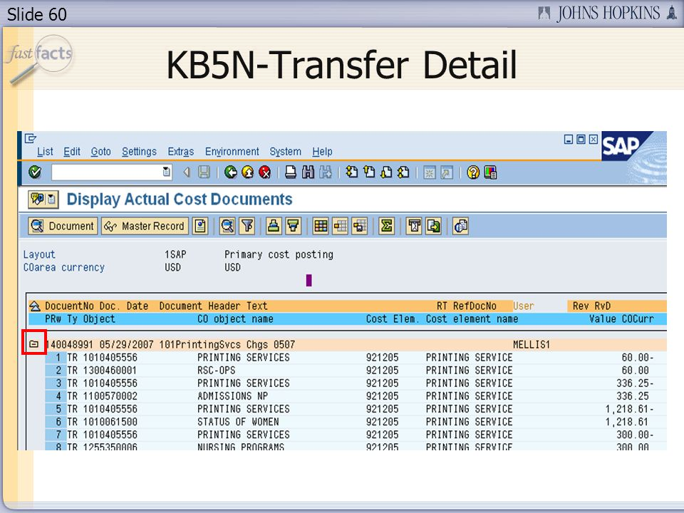 Slide 60 KB5N-Transfer Detail