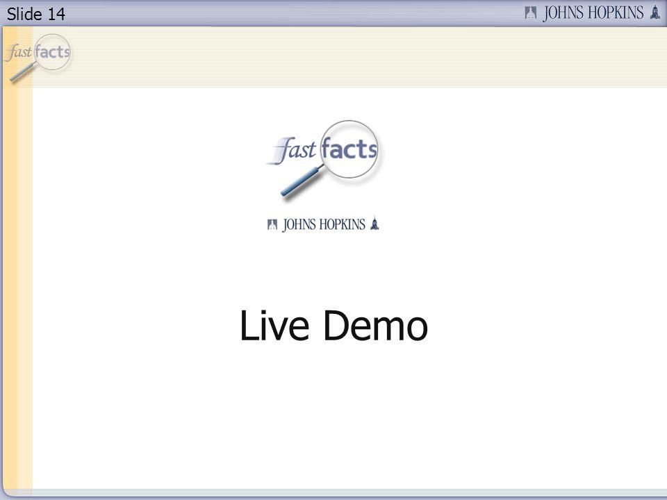 Slide 14 Live Demo