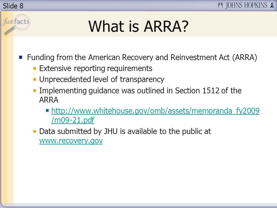 Slide 8 What is ARRA.