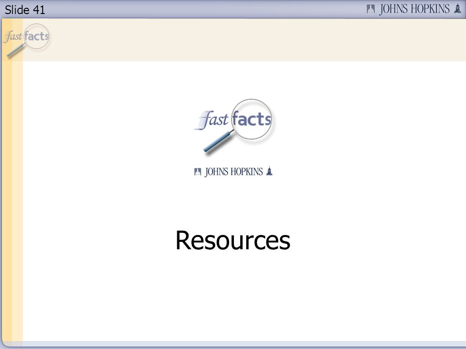 Slide 41 Resources