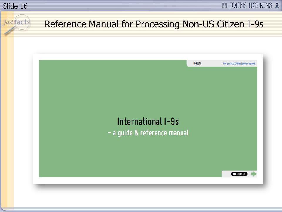 Slide 16 Reference Manual for Processing Non-US Citizen I-9s