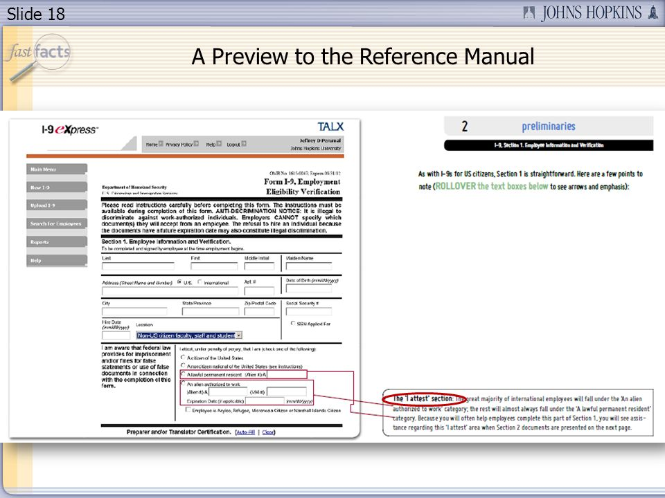 Slide 18 A Preview to the Reference Manual