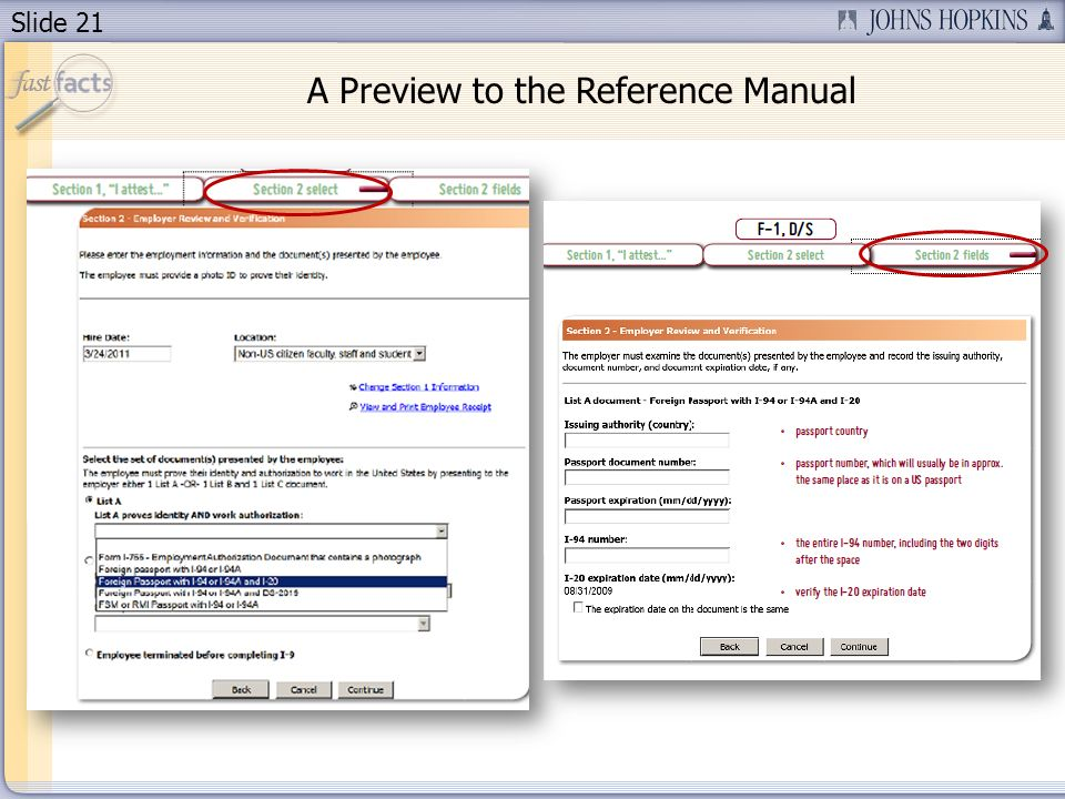 Slide 21 A Preview to the Reference Manual
