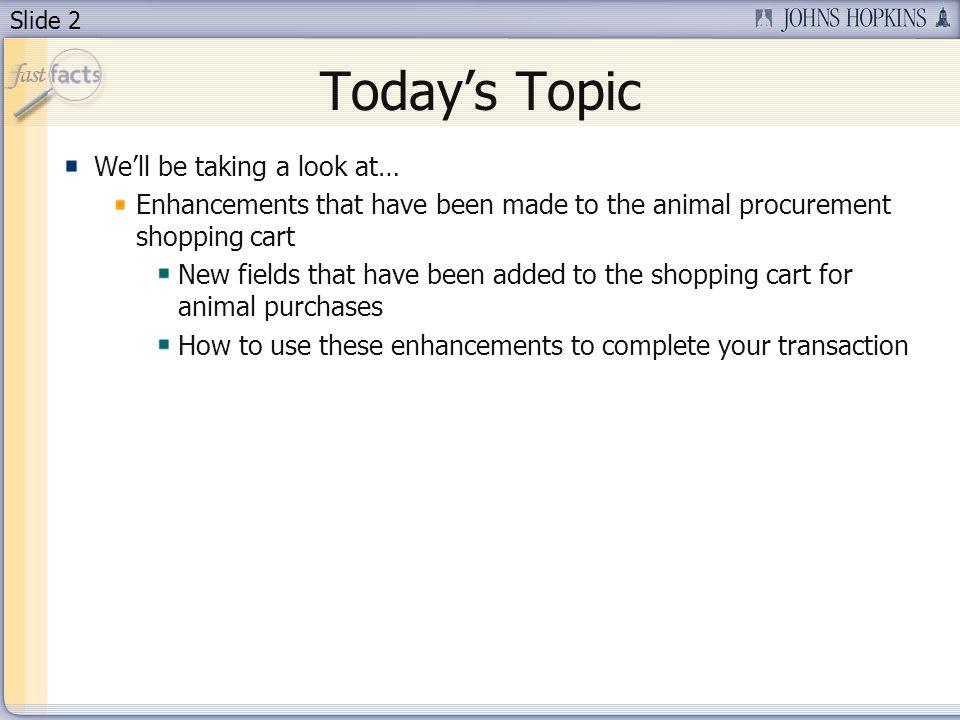 Slide 3 Todays Presenter Sharon Molander – Administrator for Animal Resources – 410-955- 3273.