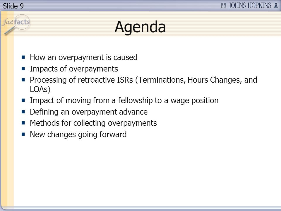 Slide 10 How Is an Overpayment Caused.