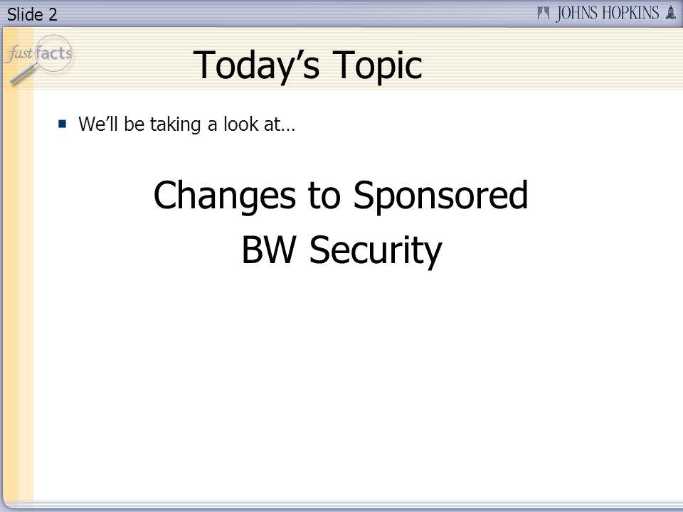 Slide 3 Todays Presenter Art Kennedy Financial Quality Control