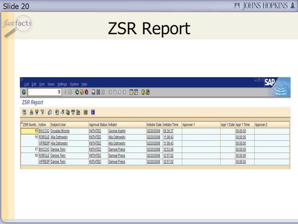 Slide 20 ZSR Report