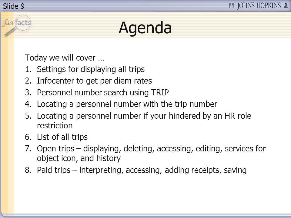 Slide 10 1. Settings