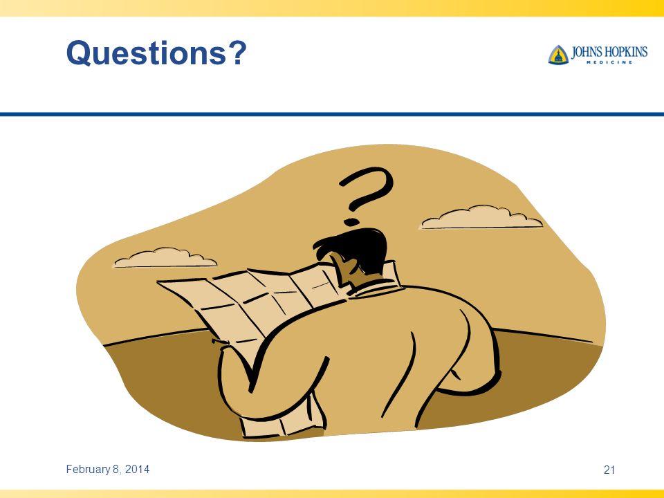 Questions? February 8, 201421
