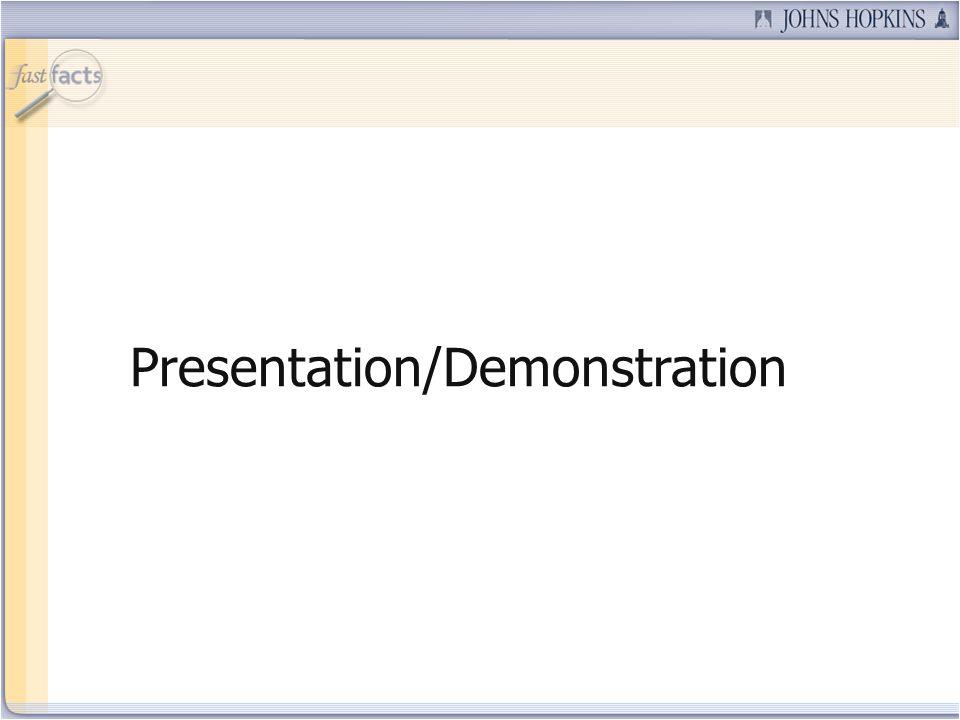 Presentation/Demonstration