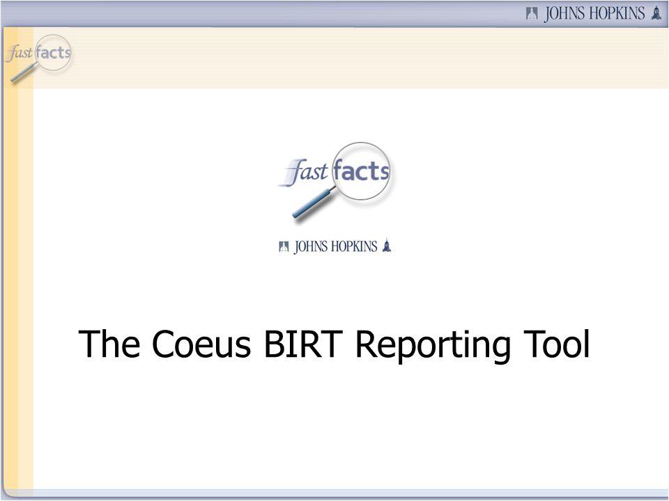 The Coeus BIRT Reporting Tool
