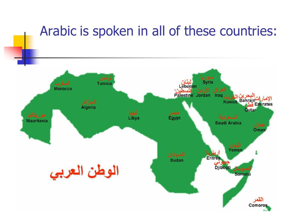 Arabic is spoken in all of these countries: