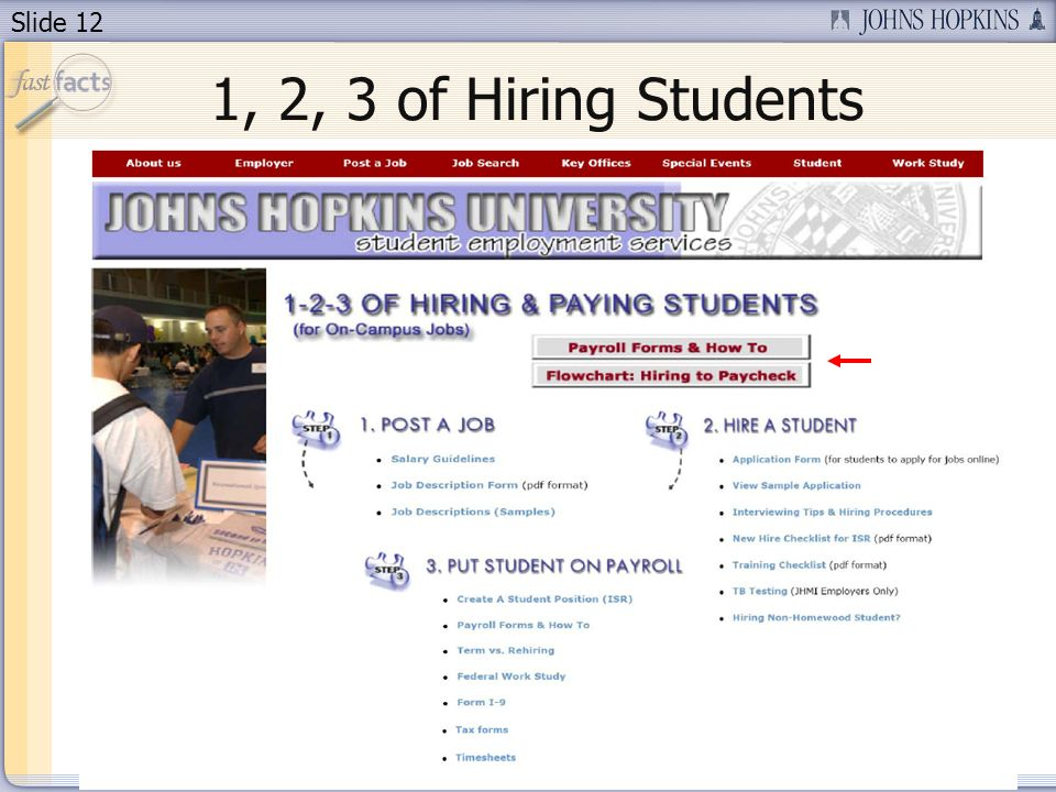 Slide 12 1, 2, 3 of Hiring Students