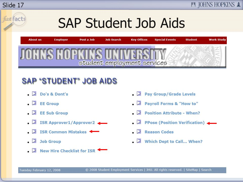 Slide 17 SAP Student Job Aids