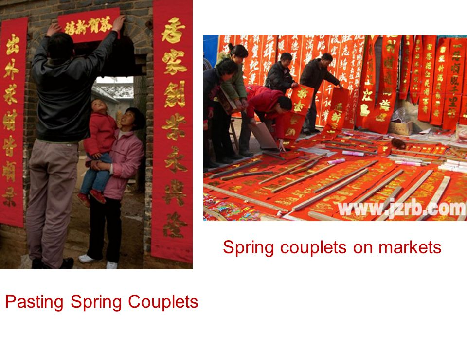 Pasting Spring Couplets Spring couplets on markets