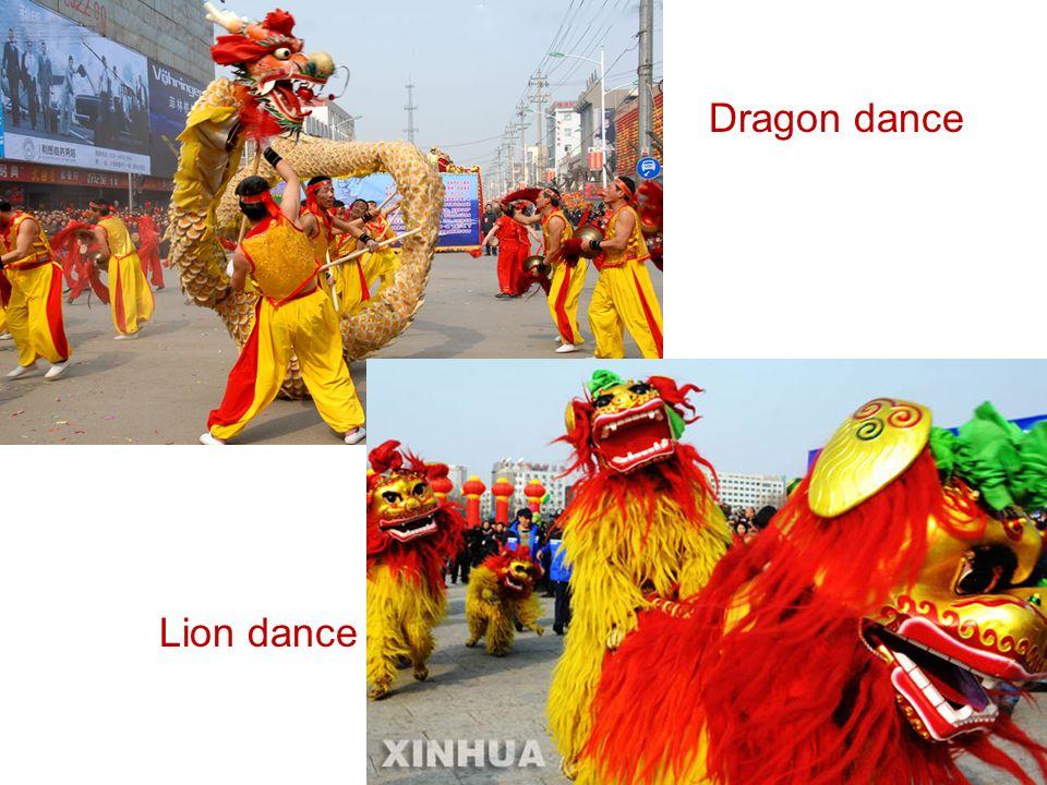 Lion dance Dragon dance