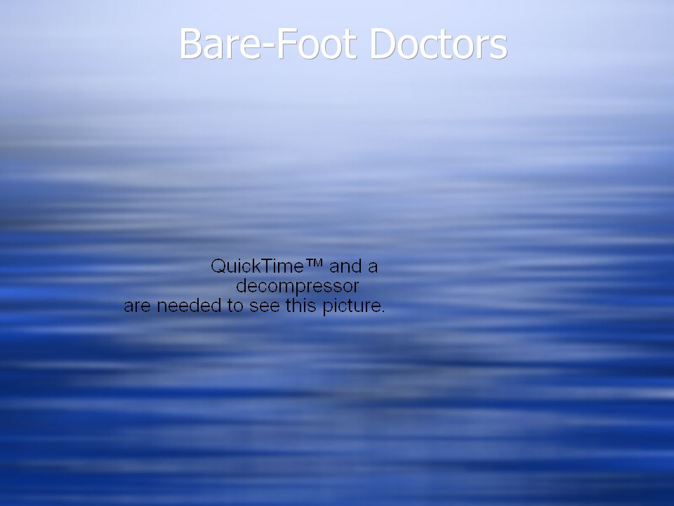 Bare-Foot Doctors