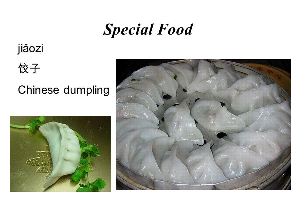 Special Food jiǎozi Chinese dumpling