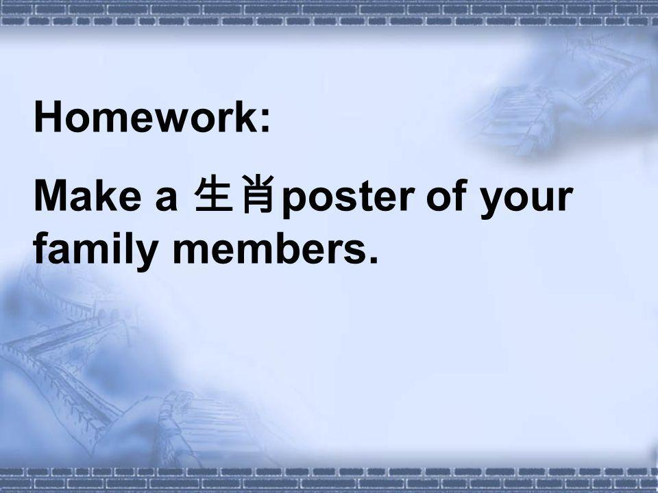 Homework: Make a poster of your family members.