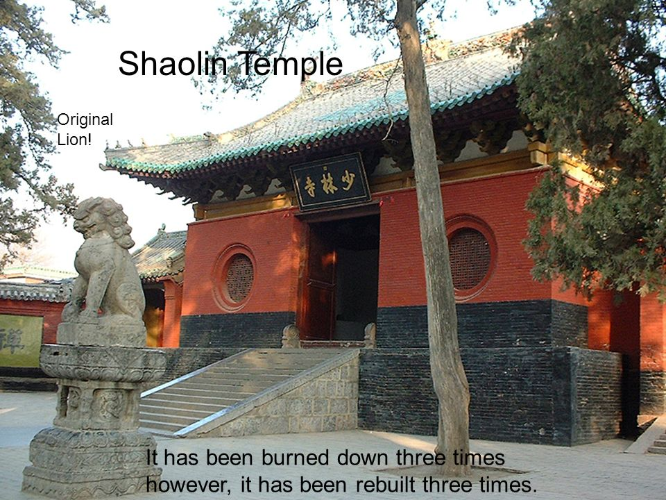 Old Pictures of the Shaolin temple, and buddhist monks in front