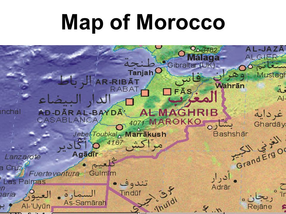 Location Kingdom of Morocco is situated in northwestern Africa with coasts on the Atlantic Ocean and the Mediterranean Sea; it is bordered by Algeria to the east and Mauritania to the south.