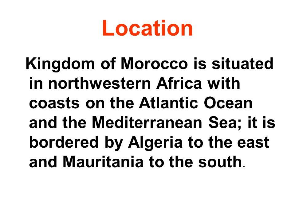 Area The area of Morocco is 458,730 sq km (177,120 sq mi).