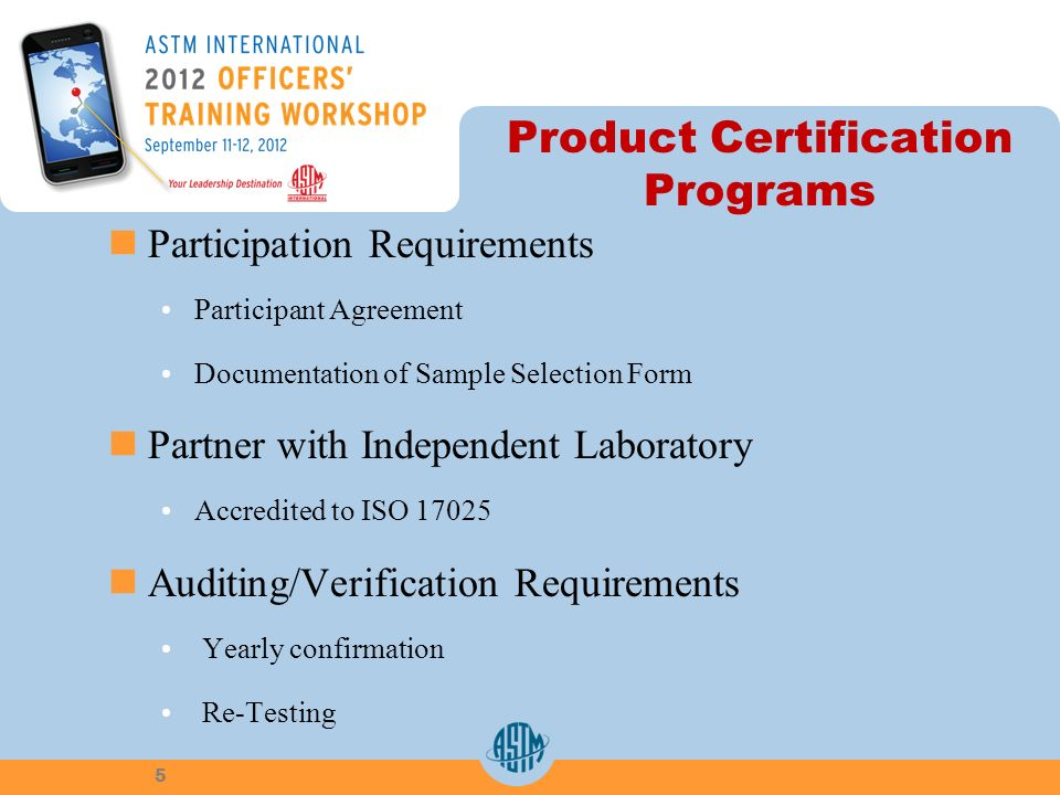 Product Certification Programs Participation Requirements Participant Agreement Documentation of Sample Selection Form Partner with Independent Labora