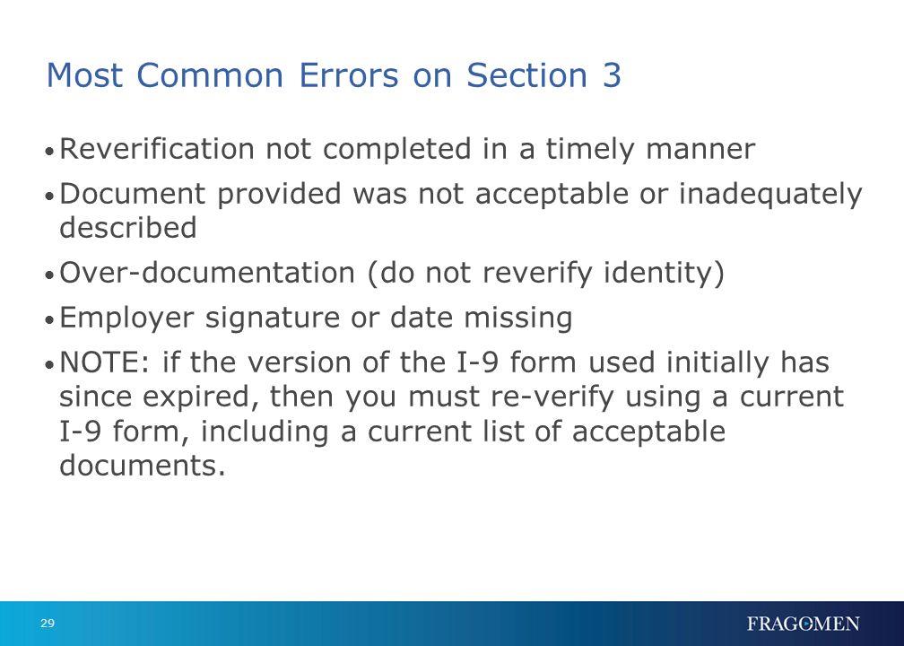 28 Form I-9 – Section 3