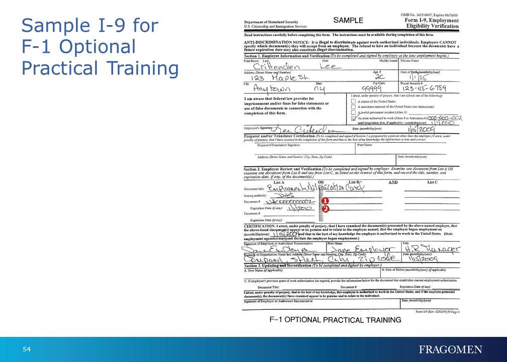 53 2. Expiration date 2 Form I-20