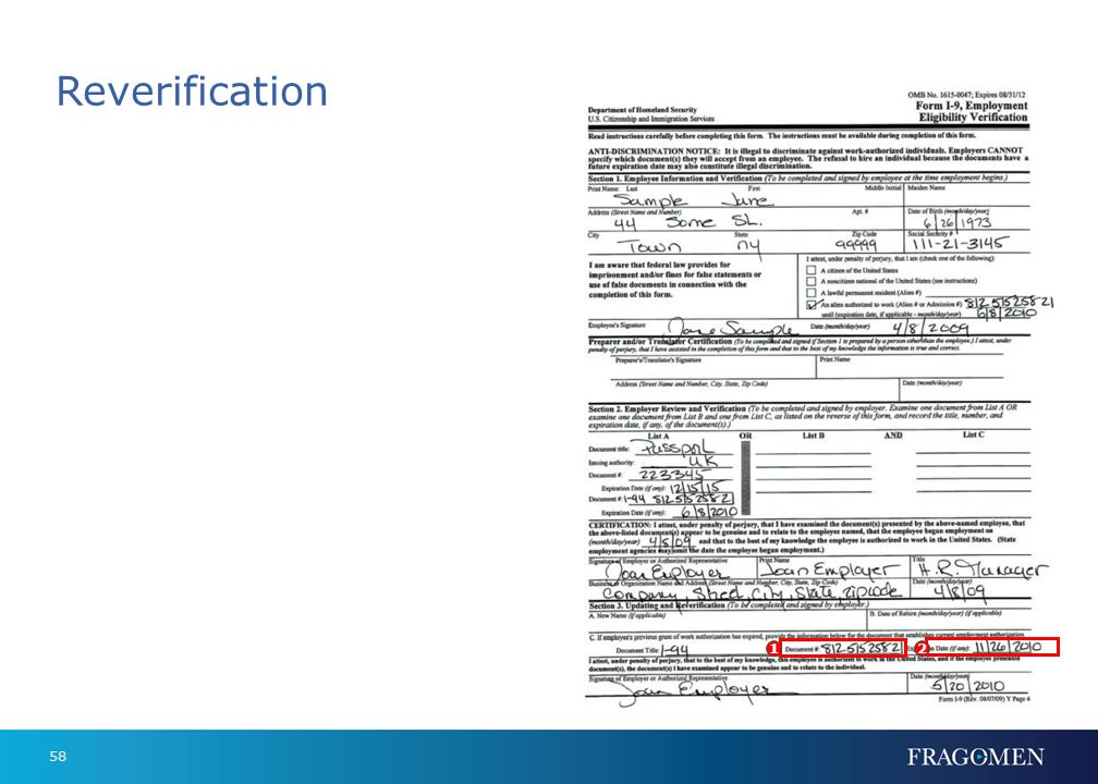 57 2. Expiration date as I-94 will show D/S (duration of stay) 2 1 Form DS-2019 1. Document number