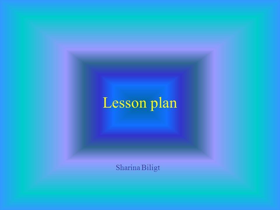 Lesson plan Sharina Biligt