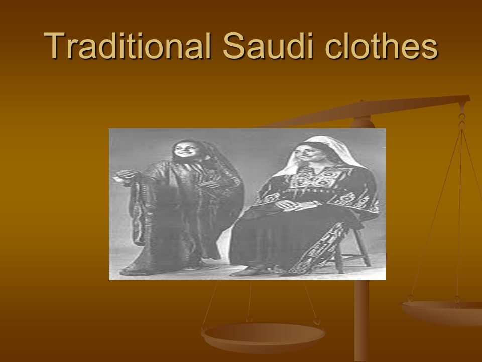 Traditional Saudi clothes