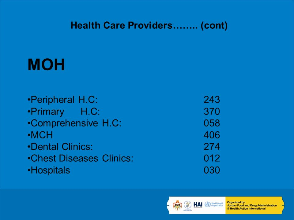 Health Care Providers……..