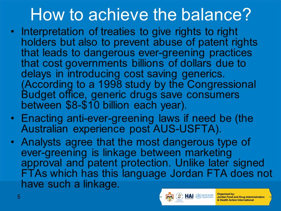 5 How to achieve the balance.